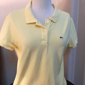 Women's Lacoste Polo Shirt Butter Yellow Color